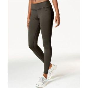 Nike Dri-Fit Green Striped Leggings NWOT